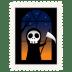 Stamp-skeleton icon