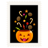 Stamp-candy-pumpkin icon
