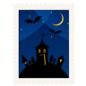 Stamp-haunted-house icon