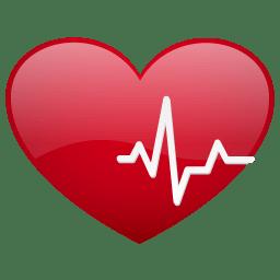 Heart beat no sh icon