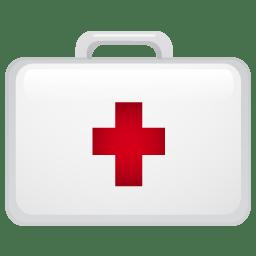 Medical suitecase icon