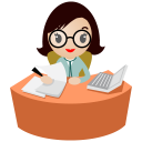 Eyes-office-women-glasses icon