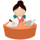 Office women pink icon