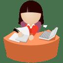 Office-women-purple icon