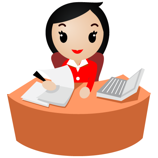 Eyes-office-women-red icon