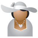 Miss grey hat icon