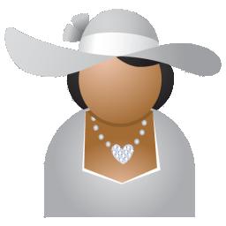 Miss grey hat icon