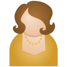 Brown woman icon