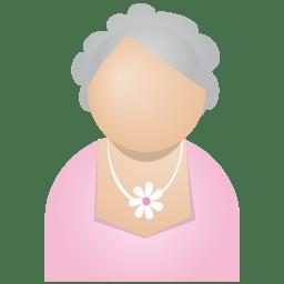 Grey woman icon