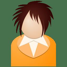 Orange girl icon