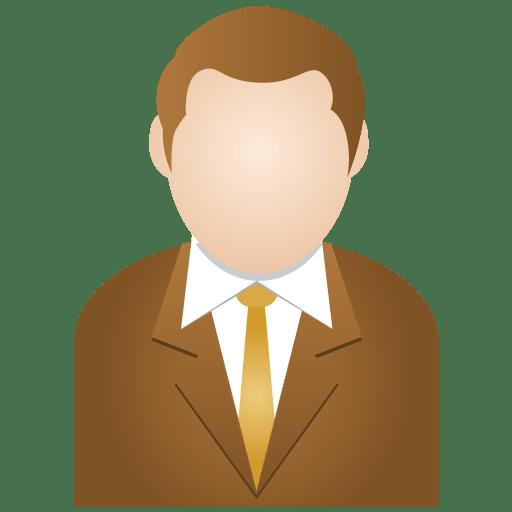 Brown man icon