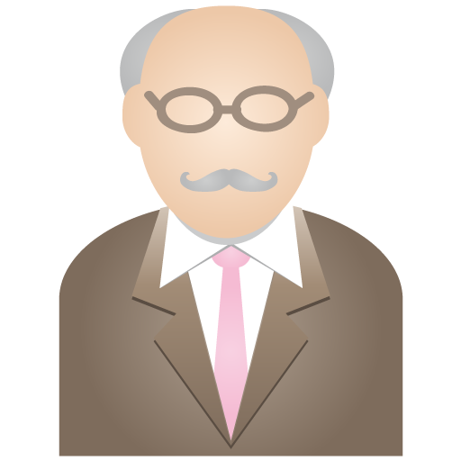 Grey man icon
