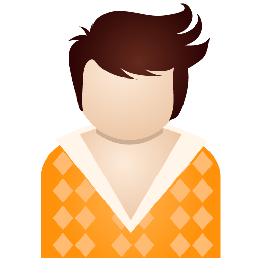 Orange boy icon