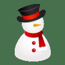 Snowman hat icon