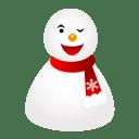 Wink snowman icon