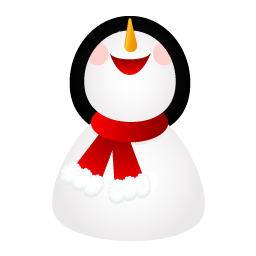 Smiling snowman icon