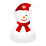 Sleepy-snowman icon