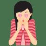 Girl-in-love icon