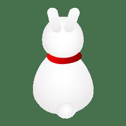 Rabbit back icon