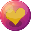 Heart orange 1 icon