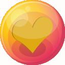 Heart-orange-4 icon