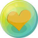 Heart orange 5 icon