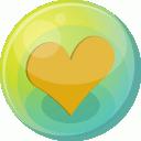 Heart orange 5 icon
