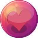 Heart pink 1 icon