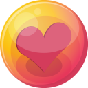 Heart pink 4 icon