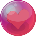 Heart pink 6 icon