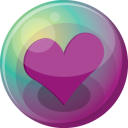 Heart purple 3 icon