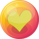 Heart yellow 4 icon