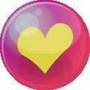 Heart-yellow-6 icon