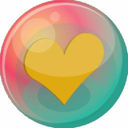 Heart orange 2 icon