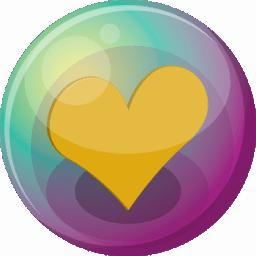 Heart orange 3 icon