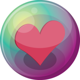 Heart pink 3 icon
