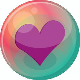 Heart purple 2 icon