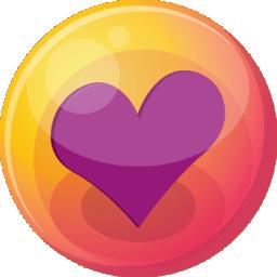 Heart purple 4 icon