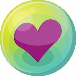 Heart purple 5 icon