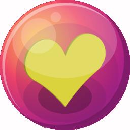 Heart yellow 1 icon