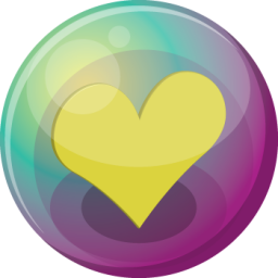 Heart yellow 3 icon