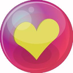 Heart yellow 6 icon