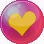 Heart orange 6 icon