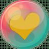 Heart-orange-2 icon