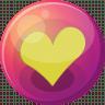Heart-yellow-1 icon