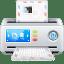 Mail envelope shredder icon