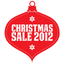 Christmas sale 2012 red icon