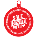 Sale 50 percent off heart icon