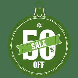 Sale 50 percent off icon