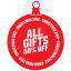 All gifts 50 percent off icon